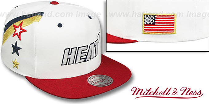 Heat 'INDEPENDENCE SNAPBACK' Hat by Mitchell and Ness : pictured without stickers that these products are shipped with
