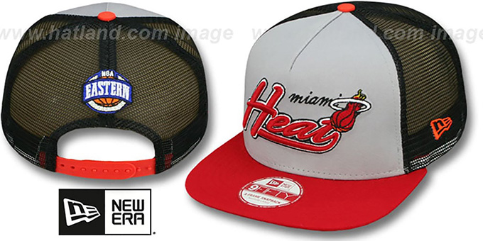 Heat 'MARK-MESH A-FRAME SNAPBACK' Hat by New Era : pictured without stickers that these products are shipped with