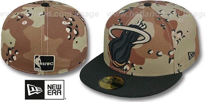 Heat 'MIGHTY-XL' Desert Storm Camo Fitted Hat by New Era : pictured without stickers that these products are shipped with
