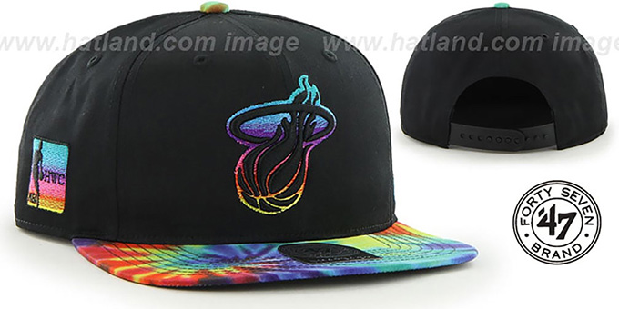 Heat 'MORRISON SNAPBACK' Hat by Twins 47 Brand : pictured without stickers that these products are shipped with