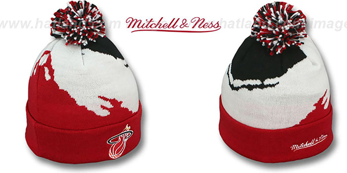 Heat 'PAINTBRUSH BEANIE' by Mitchell and Ness : pictured without stickers that these products are shipped with