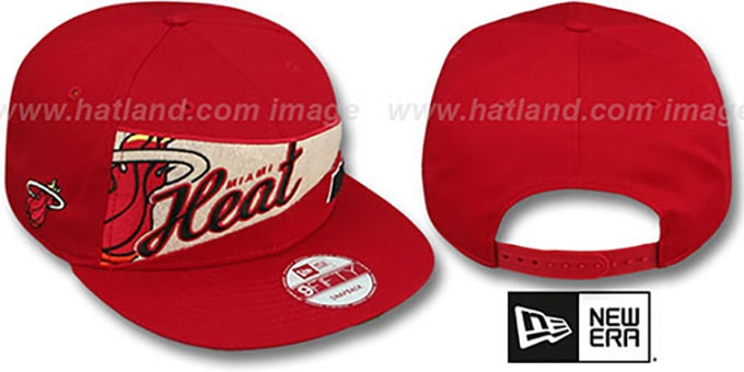 Heat 'PENNANT SNAPBACK' Red Hat by New Era : pictured without stickers that these products are shipped with