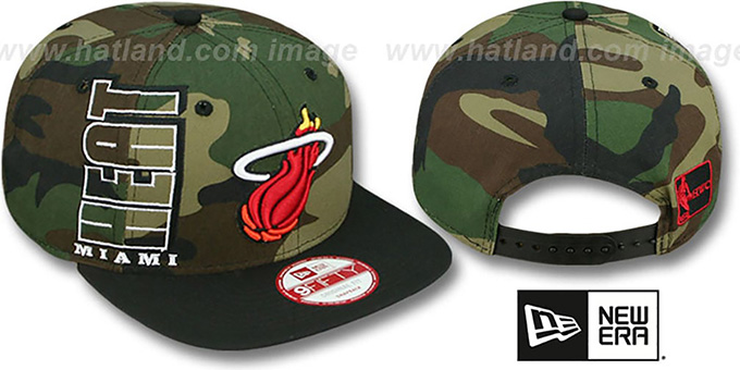 Heat 'RALLYMARK SNAPBACK' Army-Black Hat by New Era : pictured without stickers that these products are shipped with