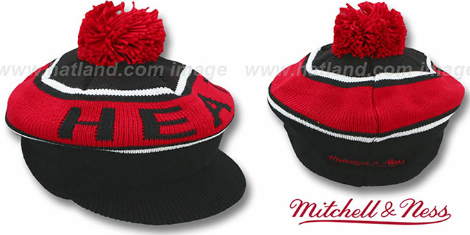 Heat 'RERUN KNIT BEANIE' by Mitchell and Ness : pictured without stickers that these products are shipped with