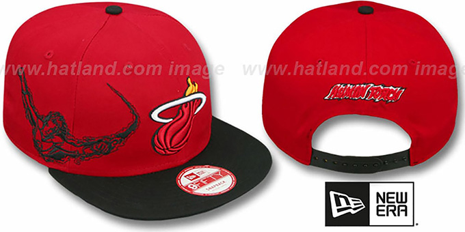 Heat 'SIDE-TEAM' HUMAN TORCH SNAPBACK Hat by New Era : pictured without stickers that these products are shipped with