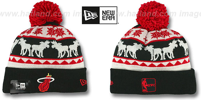 Heat 'THE-MOOSER' Knit Beanie Hat by New Era : pictured without stickers that these products are shipped with
