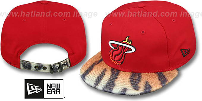 Heat 'TIGER ANIMALISTIC-FUR VIZA STRAPBACK' Hat by New Era : pictured without stickers that these products are shipped with