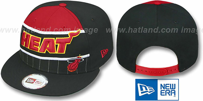 Heat 'WARM-UP SNAPBACK' Black-Red Hat by New Era : pictured without stickers that these products are shipped with