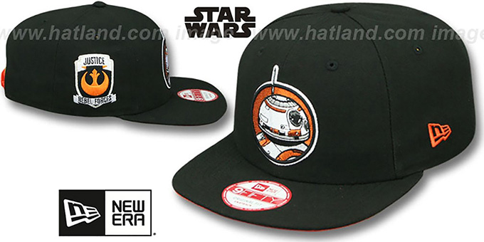 Hero Droid 'RETROFLECT SNAPBACK' Black Hat by New Era : pictured without stickers that these products are shipped with