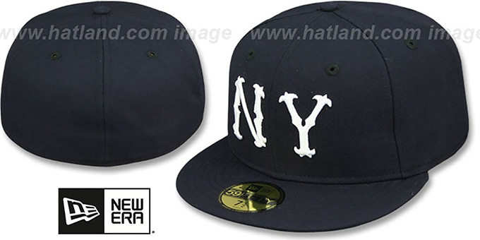 Highlanders '1903 COOPERSTOWN' Fitted Hat by New Era : pictured without stickers that these products are shipped with