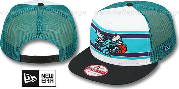 Hornets 'BAND-SLAP SNAPBACK' Hat by New Era : pictured without stickers that these products are shipped with