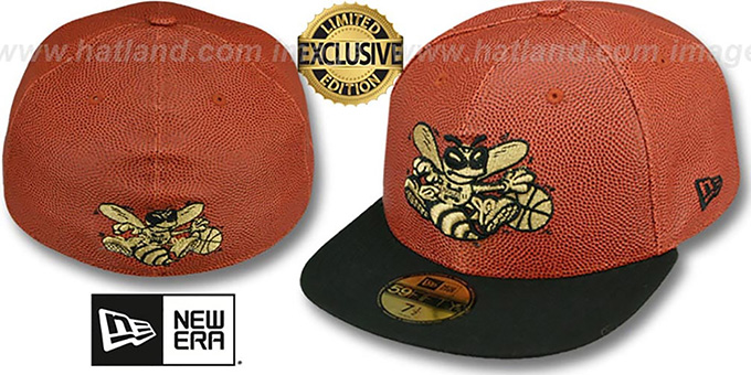 Hornets 'BASKET-BALLIN' Fitted Hat by New Era : pictured without stickers that these products are shipped with