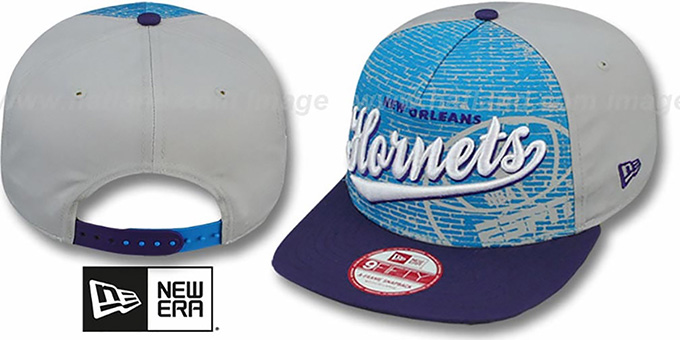 Hornets 'ESPN BRICK A-FRAME SNAPBACK' Hat by New Era : pictured without stickers that these products are shipped with