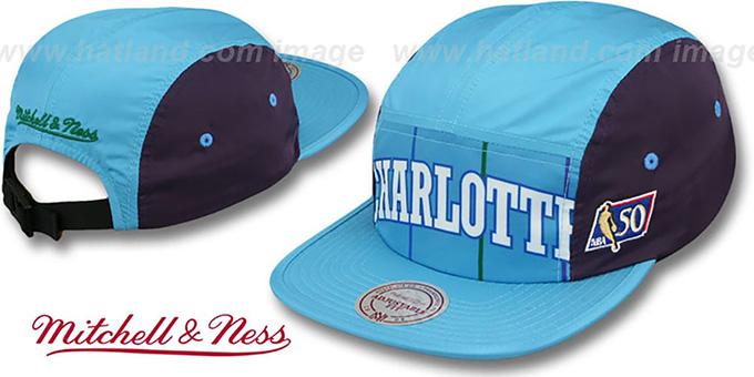 0fcb2f62 Charlotte Hornets WORDMARK STRAPBACK Sky Hat by Mitchell & Ness