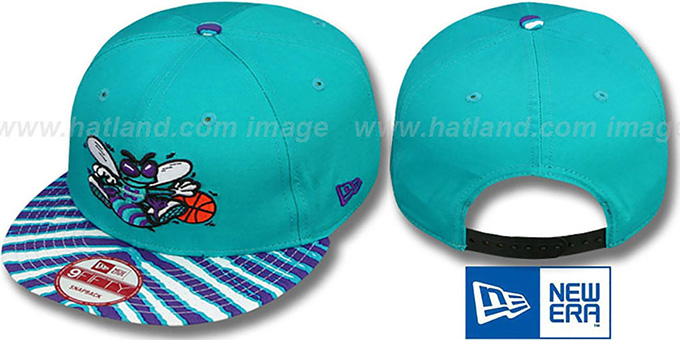 Hornets 'ZUBAZ SNAPBACK' Adjustable Hat by New Era : pictured without stickers that these products are shipped with
