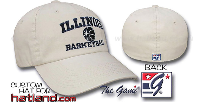 Illinois 'BASKETBALL' Fitted Hat by The Game - stone