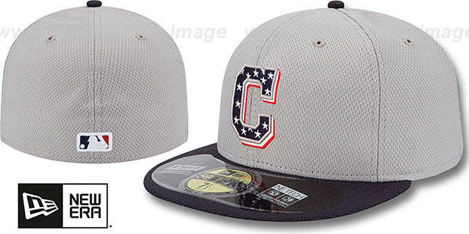 Indians 2013 'JULY 4TH STARS N STRIPES' Hat by New Era : pictured without stickers that these products are shipped with
