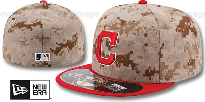 Indians '2014 STARS N STRIPES' Fitted Hat by New Era : pictured without stickers that these products are shipped with