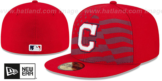 Indians '2015 JULY 4TH STARS N STRIPES' Hat by New Era : pictured without stickers that these products are shipped with