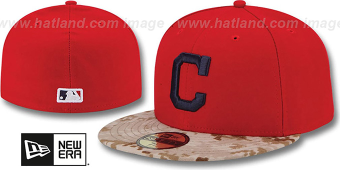 Indians '2015 STARS N STRIPES' Fitted Hat by New Era : pictured without stickers that these products are shipped with