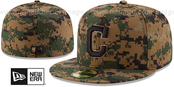 Indians 2016 MEMORIAL DAY 'STARS N STRIPES' Hat by New Era : pictured without stickers that these products are shipped with