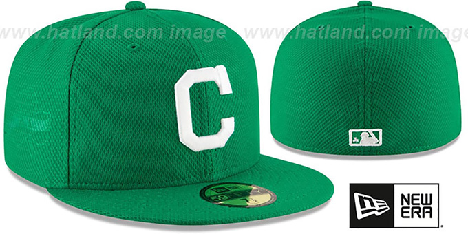 Indians '2016 ST PATRICKS DAY' Hat by New Era : pictured without stickers that these products are shipped with