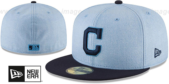 Indians '2018 FATHERS DAY' Sky-Navy Fitted Hat by New Era