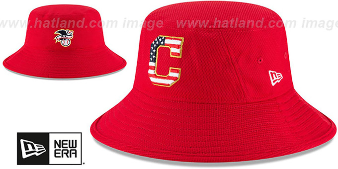 Cleveland Indians 2018 JULY 4TH STARS N STRIPES BUCKET Red Hat 97b7f599de3