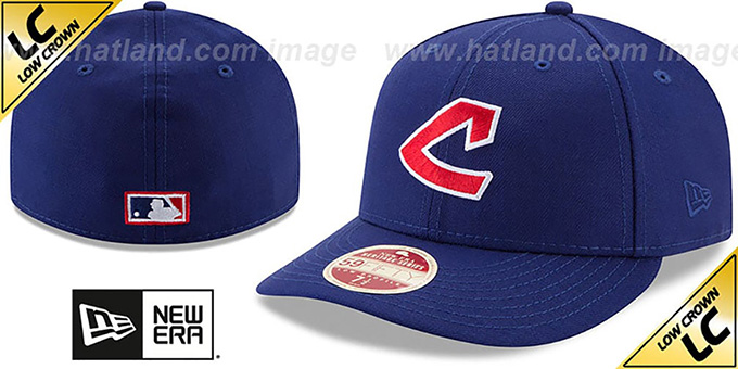 Indians 'LOW-CROWN VINTAGE' Fitted Hat by New Era : pictured without stickers that these products are shipped with