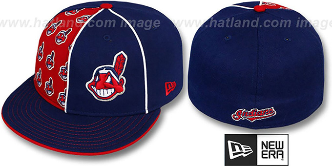 Indians 'MULTIPLY' Navy-Red Fitted Hat by New Era
