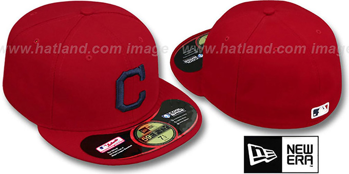 Indians 'PERFORMANCE ALTERNATE'-1 Hat by New Era : pictured without stickers that these products are shipped with