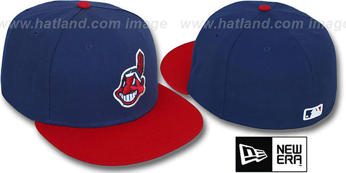 Indians 'PERFORMANCE HOME' Hat by New Era : pictured without stickers that these products are shipped with