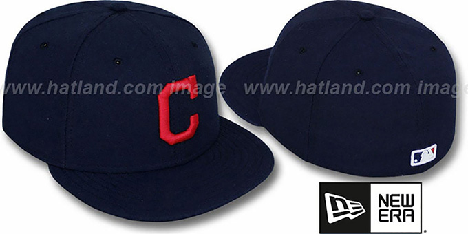 Indians 'PERFORMANCE ROAD' Hat by New Era : pictured without stickers that these products are shipped with