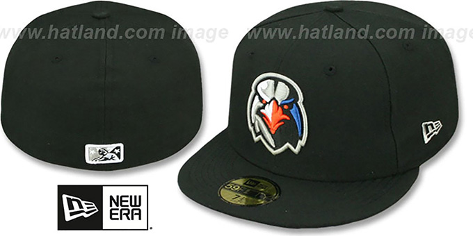 Ironbirds 'PERFORMANCE HOME' Black Fitted Hat by New Era : pictured without stickers that these products are shipped with