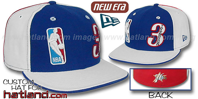 Iverson 'DOUBLE WHAMMY' Royal-White-Red Fitted Hat
