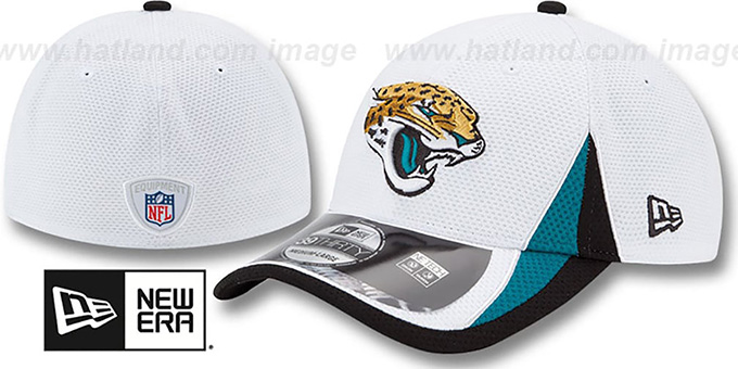 Jaguars '2013 NFL TRAINING FLEX' White Hat by New Era : pictured without stickers that these products are shipped with