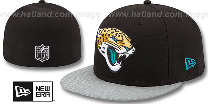 Jaguars '2014 NFL DRAFT' Black Fitted Hat by New Era : pictured without stickers that these products are shipped with