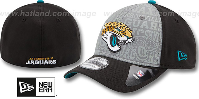 Jaguars '2014 NFL DRAFT FLEX' Black Hat by New Era : pictured without stickers that these products are shipped with