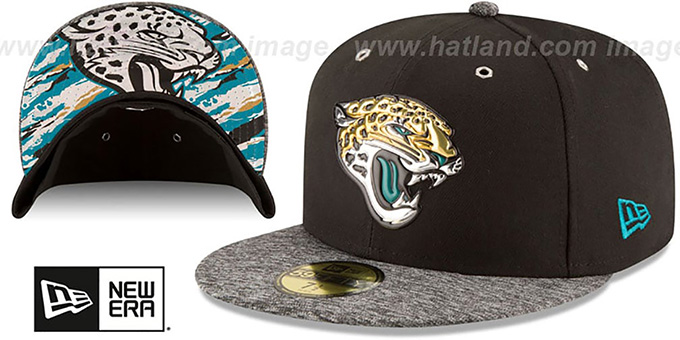 Jaguars '2016 NFL DRAFT' Fitted Hat by New Era : pictured without stickers that these products are shipped with
