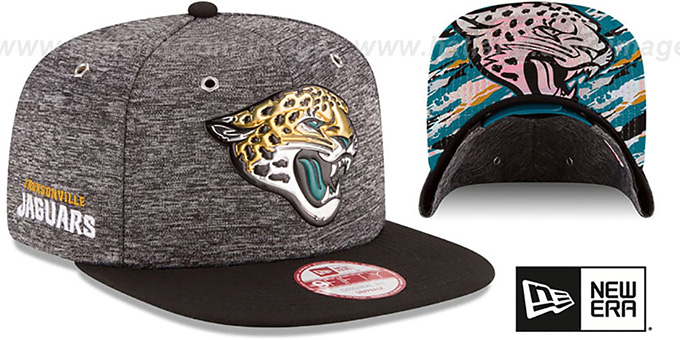 Jaguars '2016 NFL DRAFT SNAPBACK' Hat by New Era : pictured without stickers that these products are shipped with