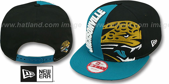 Jaguars 'NE-NC DOUBLE COVERAGE SNAPBACK' Hat by New Era : pictured without stickers that these products are shipped with