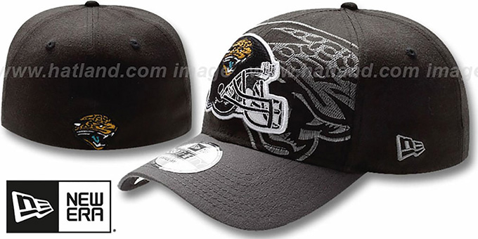 Jaguars 'NFL BLACK-CLASSIC FLEX' Hat by New Era : pictured without stickers that these products are shipped with