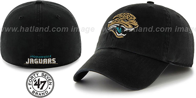 Jaguars 'NFL FRANCHISE' Black Hat by 47 Brand : pictured without stickers that these products are shipped with
