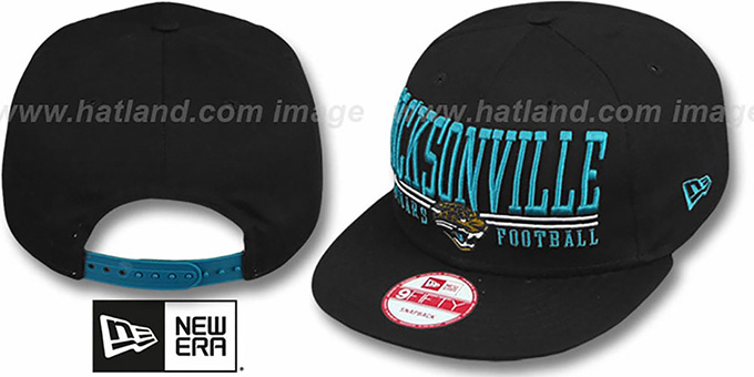 Jaguars 'NFL LATERAL SNAPBACK' Black Hat by New Era : pictured without stickers that these products are shipped with