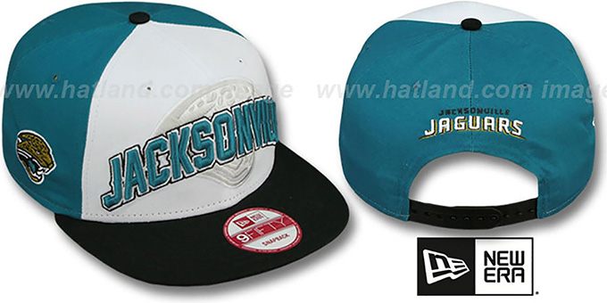Jaguars 'NFL ONFIELD DRAFT SNAPBACK' Hat by New Era : pictured without stickers that these products are shipped with