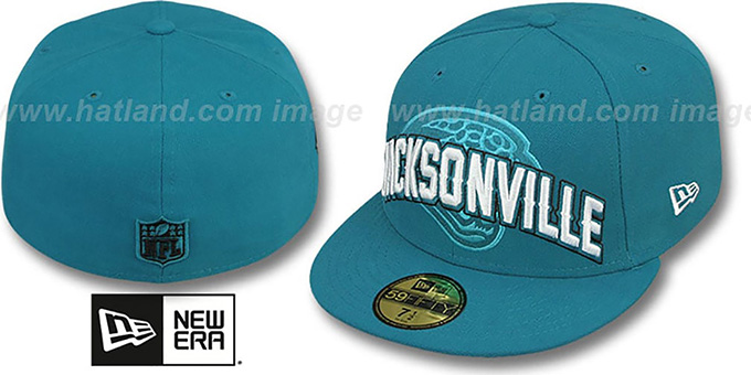 Jacksonville Jaguars NFL ONFIELD DRAFT Teal Fitted Hat 547d355f7bb