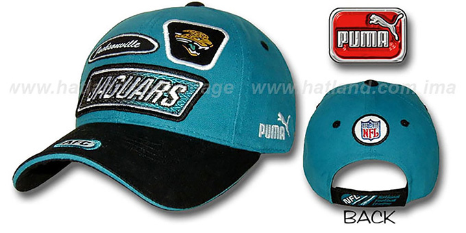 Jaguars 'RALLY' Hat by Puma : pictured without stickers that these products are shipped with