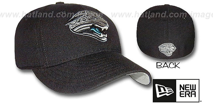 Jaguars 'STREAKER' Fitted Hat by New Era : pictured without stickers that these products are shipped with
