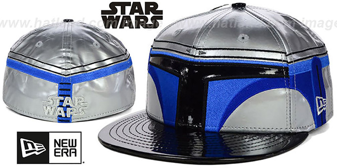 Jango Fett 'CHARACTER FACE' Fitted Hat by New Era : pictured without stickers that these products are shipped with