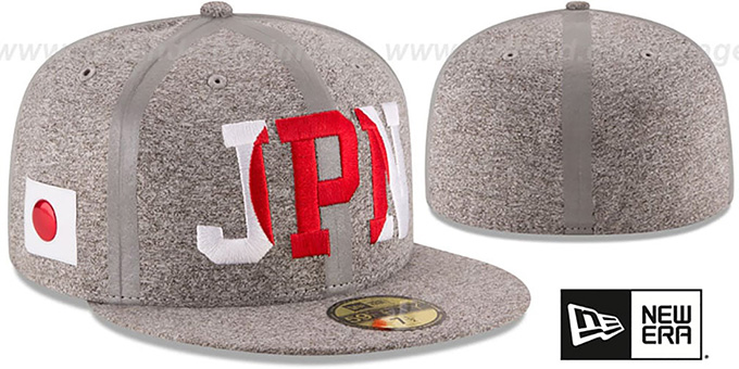 Japan 'PRIDE FLECT' Grey Fitted Hat by New Era : pictured without stickers that these products are shipped with